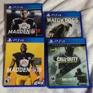 PS4 games - 4 games included